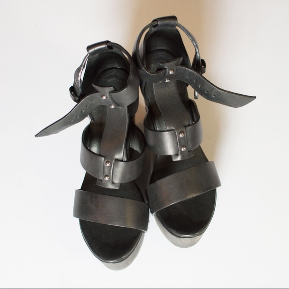 9ac5769182fd All Saints Shoes - All Saints Rotchko Wedge Sandals in Black